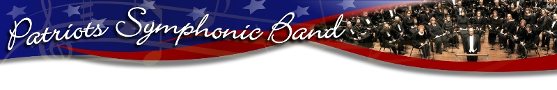 Patriots Band Website title and Header Image